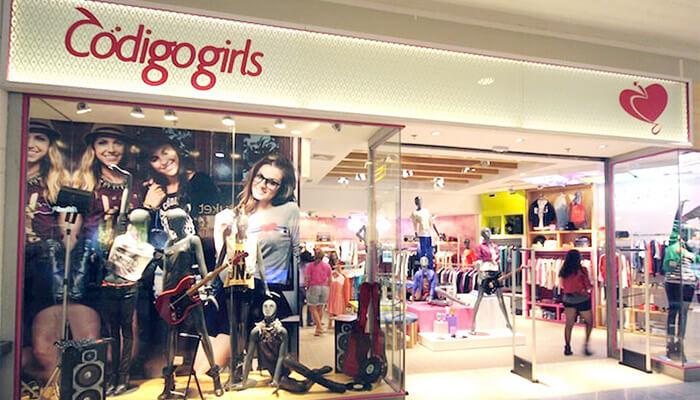 Franquias de Vestuário: FRANQUIA CÓDIGO GIRLS