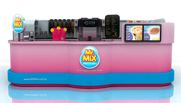 Franquias de quiosque - Mr Mix Milk Shakes