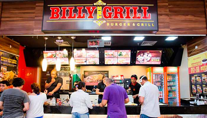 Franquias de Restaurantes FRANQUIA BILLY THE GRILL BURGER & GRILL