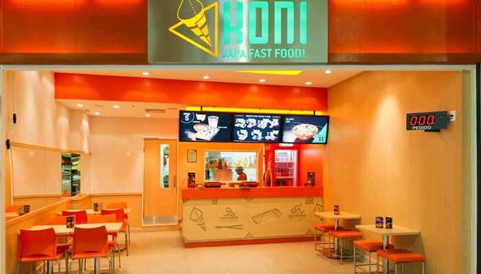 franquias de comida japonesa - koni store