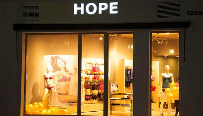 Franquias de Vestuário: FRANQUIA HOPE LINGERIE