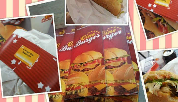 Franquias de sanduíches - Cine Burger
