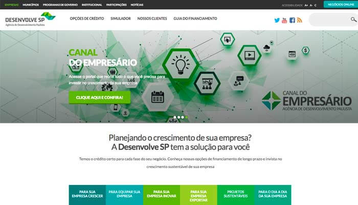 DesenvolveSP - Financiamento para abrir franquias