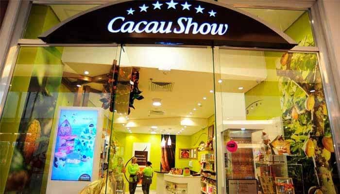 Maiores franquias - Cacau Show