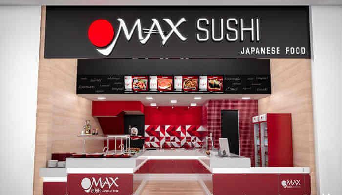 Franquias baratas de alimentação - Max Sushi