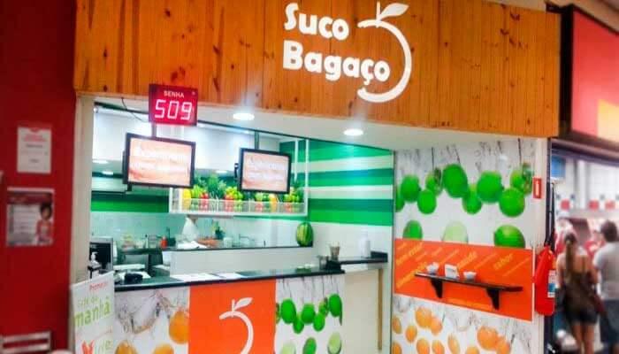 Franquias em locais alternativos - Suco Bagaço