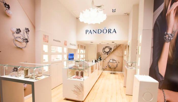 Franquias de presentes - Pandora